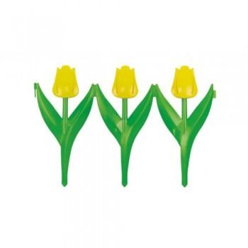 Забор декоративный L:45см H:30см (6 секций) 'Цветы' (М379)