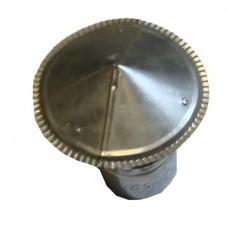 Зонт на трубу d:120 оцинкованный