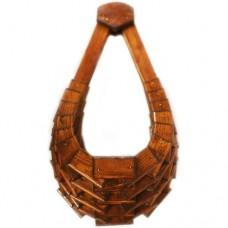 Кашпо настенное деревянное (сфера) 30смх30смх44см
