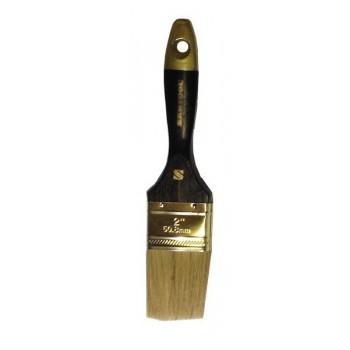 Кисть плоская 'Профи' 2' натуральная щетина, деревянная ручка