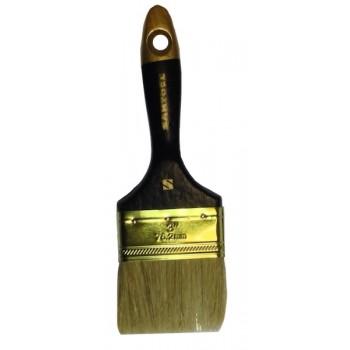 Кисть плоская 'Профи' 3' натуральная щетина, деревянная ручка