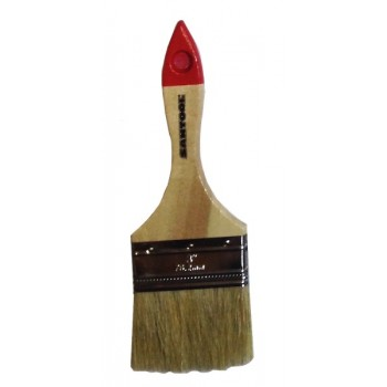 Кисть плоская 3' натуральная щетина, деревянная ручка