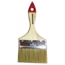 Кисть плоская 4' натуральная щетина, деревянная ручка