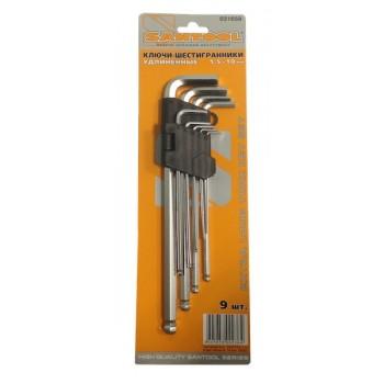 Ключи-шестигранники 1,5 мм - 10 мм удлиненные (9 шт.в упаковке)