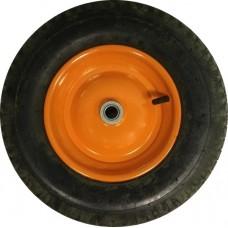 Колесо для тачки пневматическое 16'х4,00-8 большое для 2-х колесной тачки (ось 20мм*70мм)