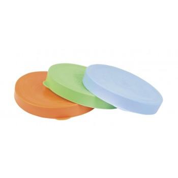 Крышка полиэтиленовая для закрывания банки цветная d:85мм 'Хозяюшка'