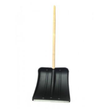 Лопата снегоуборочная 365ммх380мм пластмассовая 'Витязь' с черенком