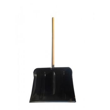 Лопата снегоуборочная 500ммх400мм пластмассовая 'Богатырь' (с черенком и накладкой)