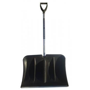 Лопата снегоуборочная 540ммх370мм (пластмассовая/с накладкой/d:30мм) в сборе №13