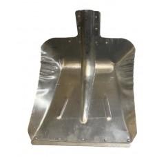 Лопата снегоуборочная 380ммх380мм ЛС №9 (алюминиевая 1,5мм/с планкой/d:40)