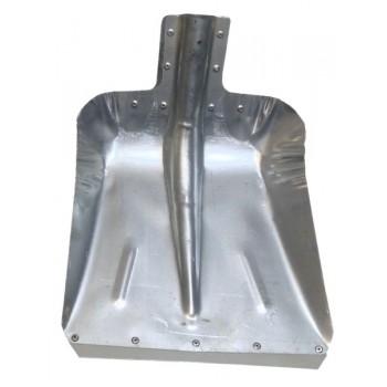 Лопата снегоуборочная 320ммх350мм ЛС №7 (оцинкованная 0,8мм/с планкой/d:40)