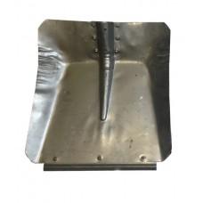 Лопата снегоуборочная 360ммх380мм (оцинкованная 0,8 мм/с планкой/d:40)
