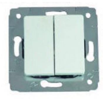 Механизм выключателя 2-кл. CARIVA белая Leg773658 61763