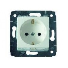 Механизм розетки 1-м CARIVA c/з белый Leg 773659