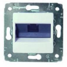 Механизм розетки комп.1-м RJ45 CARIVA 6E белый Leg773641