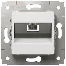 Механизм розетки телеф.1-m RJ11 CARIVA белый Leg 773638