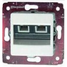 Механизм розетки телеф.1-m RJ11 CARIVA белый Leg 773639