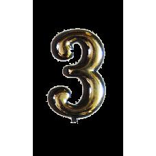 Номерок квартирный самоклеющийся №3 (Богд)