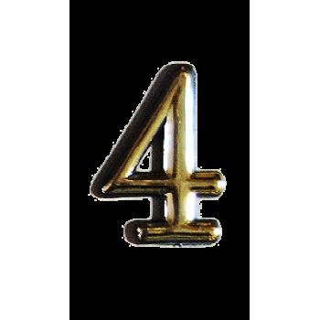 Номерок квартирный самоклеющийся №4 (Богд)