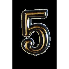 Номерок квартирный самоклеющийся №5 (Богд)