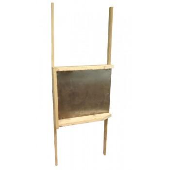 Носилки строительные деревянные усиленные(дно деревянное,сверху металл)