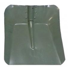 Лопата снегоуборочная 360ммх380мм (стальная (мет) 0.8мм/без планки/d:40)