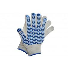 Перчатки с ПВХ 4-х нитка 10 кл 'волна'