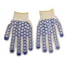 Перчатки с ПВХ 4-х нитка 10 кл 'волна' 42гр