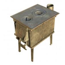 Печь чугунная малая ПЧМ 56кг универсальная (дымоход в задней стенке) Урал