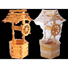 Цветочница деревянная 'КОЛОДЕЦ' 6-ти гранный