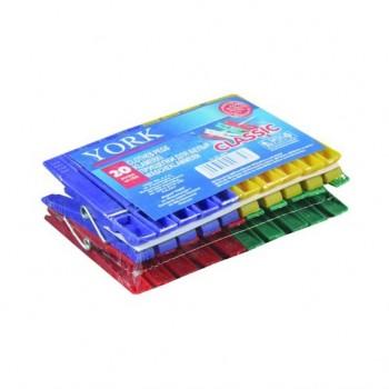 Прищепка пластмассовая 'Классика' York 9601 (упаковка 20 шт)