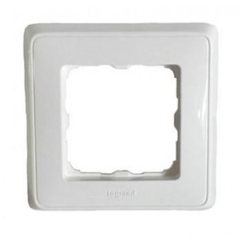 Рамка 1-м Cariva белая Leg 773660