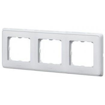 Рамка 3-м Cariva белая Leg 773653