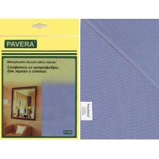 Салфетка Pavera для зеркал и стекол 30смх40см микрофибра Р202