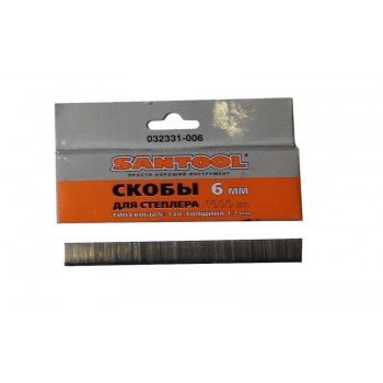 Скобы 6мм (толщина 1,2мм, тип 140) для мебельного степлера 1000 шт.