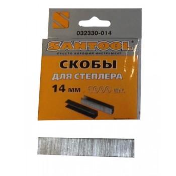 Скобы 14мм (толщина 0,75мм, тип 53) для мебельного степлера 1000 шт.