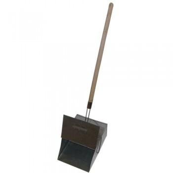 Совок-ловушка оцинкованный с деревянной ручкой и крышкой