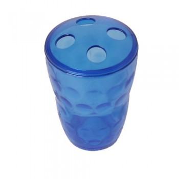 Стаканчик-подставка для зубных щеток пластмассовый 'Фантазия' (М1155)