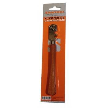 Стеклорез 6 роликов с деревянной ручкой