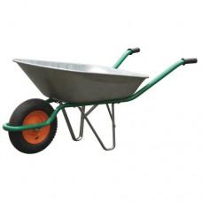 Тачка садовая 65л 130 кг оцинкованная пневмо колесо 3мм
