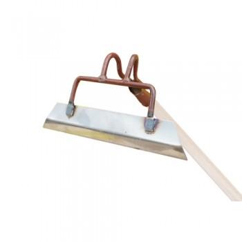 Тяпка универсальная клепанная 220*80мм (нержавеющая сталь) с черенком