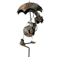 Фигурка декоративная 'Мышь с зонтом' (на штычке) 13.5×13×52.5