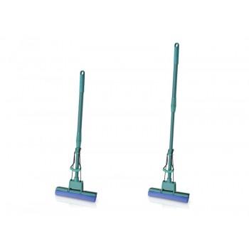 Швабра Pavera отжимная с одним роликом (фиолетовая, держатель пластмассовый) P007