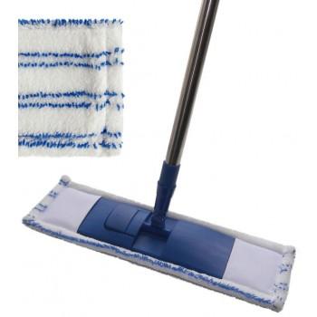 Швабра Pavera плоская 125см (бело-синяя) Р043В