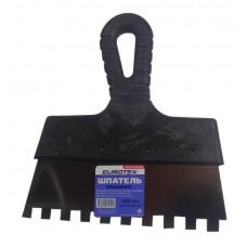 Шпатель фасадный 200мм зубьев 10×10мм EUROTEX нержавеющая сталь пластмассовая ручка