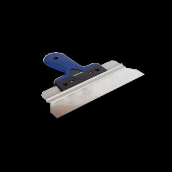 Шпатель фасадный 450мм EUROTEX ПРОФИ нержавеющая сталь, двухкомпон.пластмассовая ручка