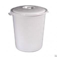 Бак 21л пластмассовый с крышкой для пищевых продуктов