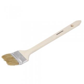 Кисть радиаторная 2,5' натуральная щетина деревянная ручка