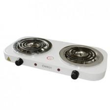 Электроплитка Energy EN-904-2-2.0 кВт/220 (ТЭН), 2 конфорки с нержавеющей чашей