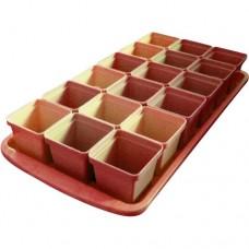 Набор горшков для рассады 18 горшков в ящикех250мл (480ммх230мм)